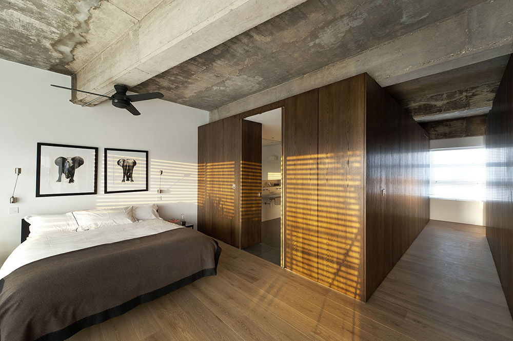 спальня в стиле лофт фото декор