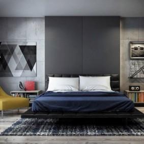 спальня в стиле лофт идеи дизайна