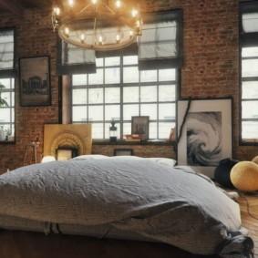 спальня в стиле лофт идеи фото
