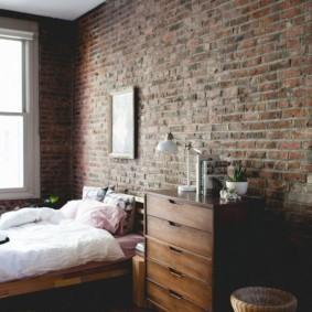 спальня в стиле лофт интерьер идеи