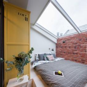 спальня в стиле лофт виды дизайна