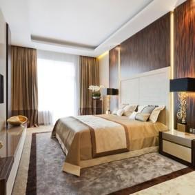 спальня в бежевых тонах фото декор