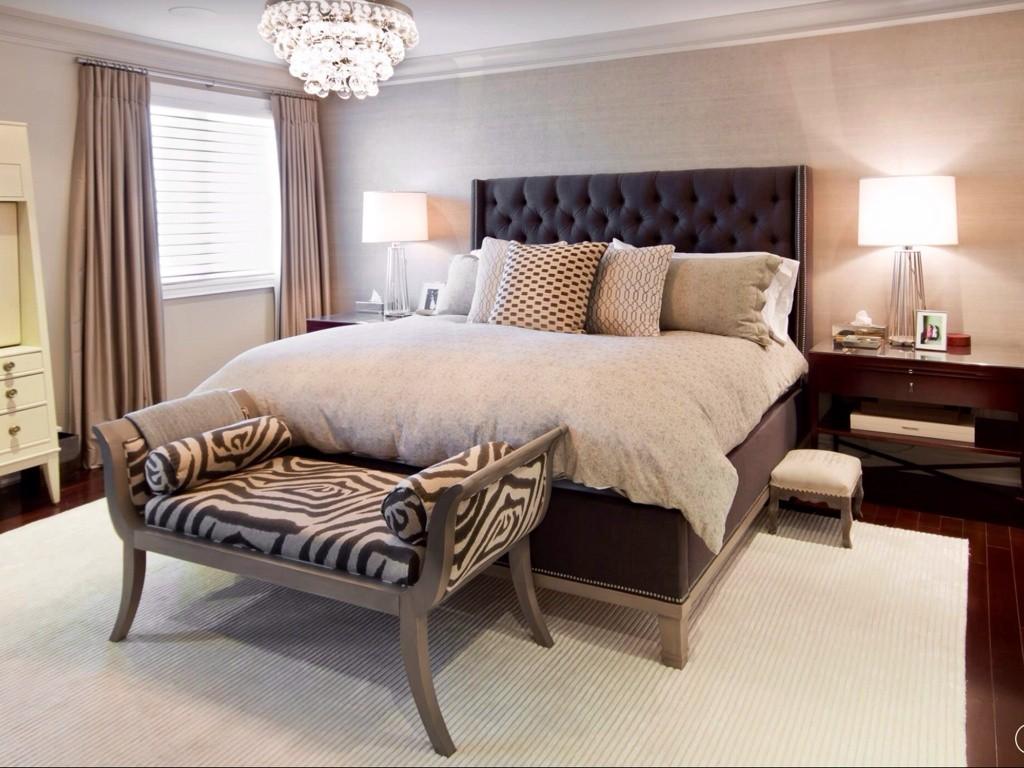 спальня в бежевых тонах фото оформление
