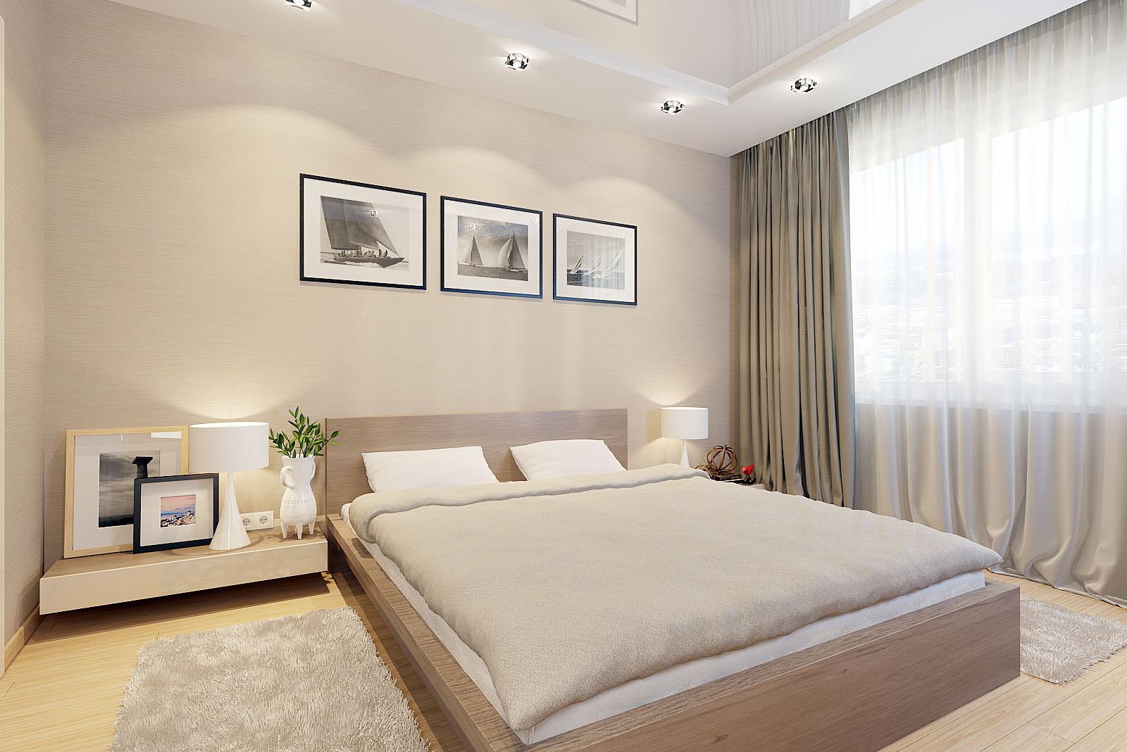 спальня в бежевых тонах фото оформления