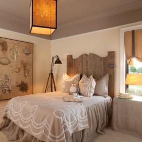 спальня в бежевых тонах интерьер