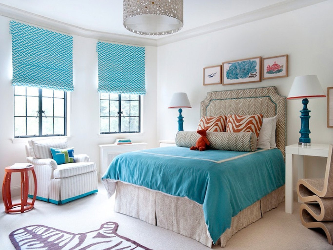 спальня в бирюзовых тонах фото дизайна