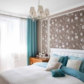 спальня в бирюзовых тонах фото интерьера