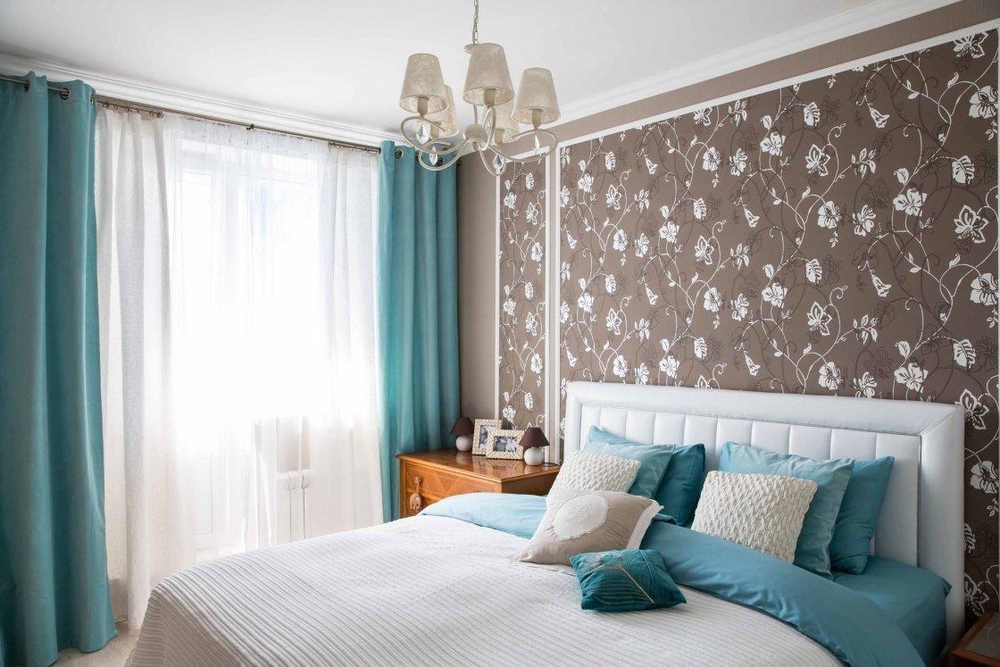 интерьер спальни в бирюзовых тонах фото трёх тазиков прикольное