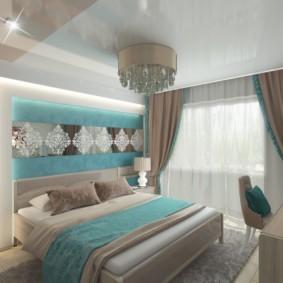 спальня в бирюзовых тонах фото оформление