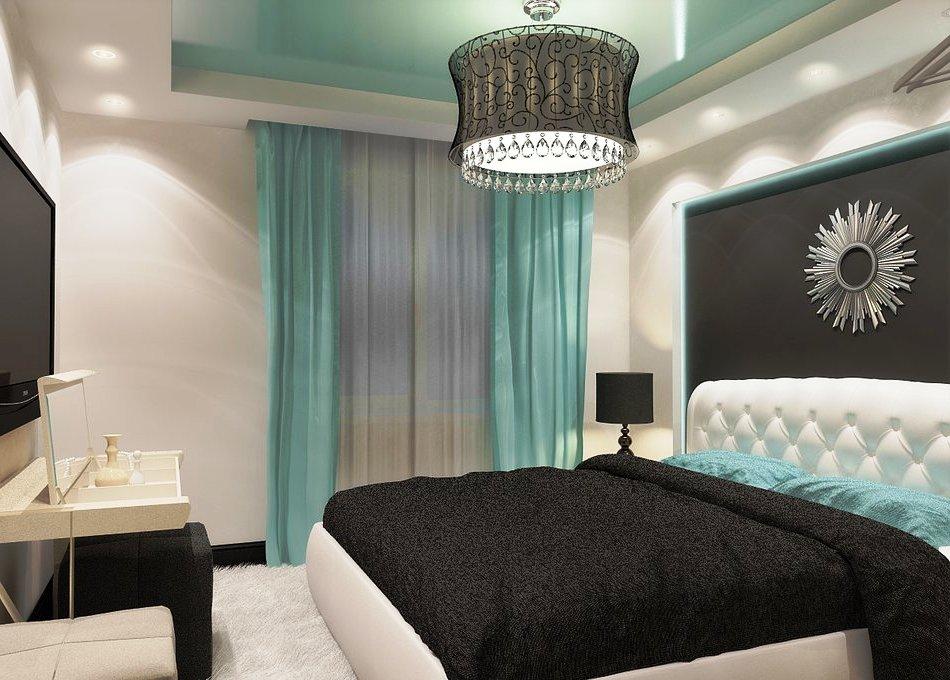 спальня в бирюзовых тонах фото вариантов