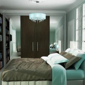спальня в бирюзовых тонах идеи дизайн