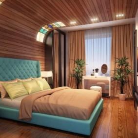спальня в бирюзовых тонах идеи интерьера