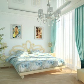спальня в бирюзовых тонах идеи оформление