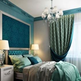 спальня в бирюзовых тонах идеи варианты