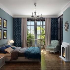 спальня в бирюзовых тонах варианты
