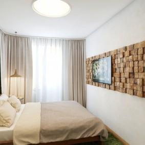 дизайн спальни 12 кв м в эко стиле