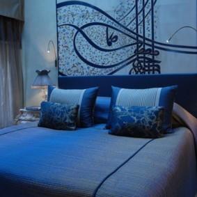 спальня в голубом цвете фото