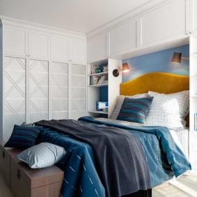 спальня в голубом цвете фото декора