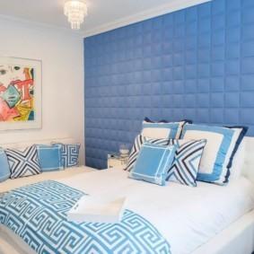 спальня в голубом цвете фото идеи
