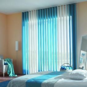 спальня в голубом цвете идеи
