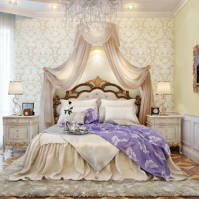 спальня в классическом стиле идеи дизайна