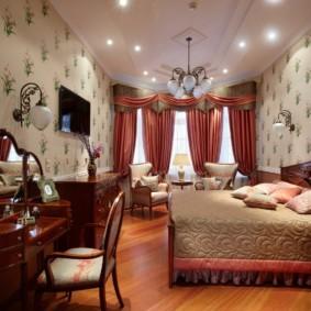 спальня в классическом стиле идеи интерьер