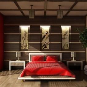 спальня в красных тонах фото дизайна