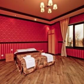 спальня в красных тонах фото идеи