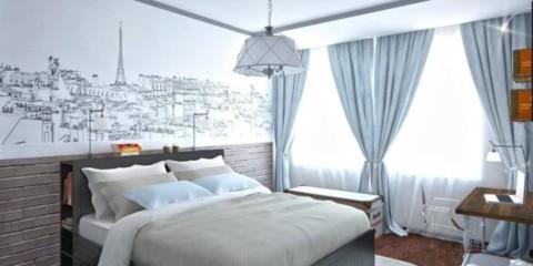 спальня в скандинавском стиле декор фото