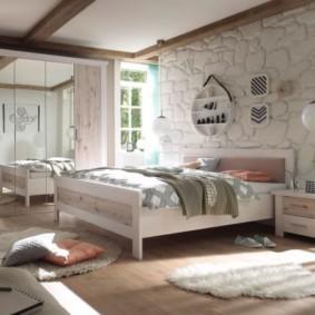 спальня в скандинавском стиле дизайн
