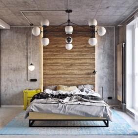 спальня в стиле лофт декор фото