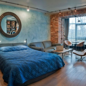 спальня в стиле лофт декор идеи