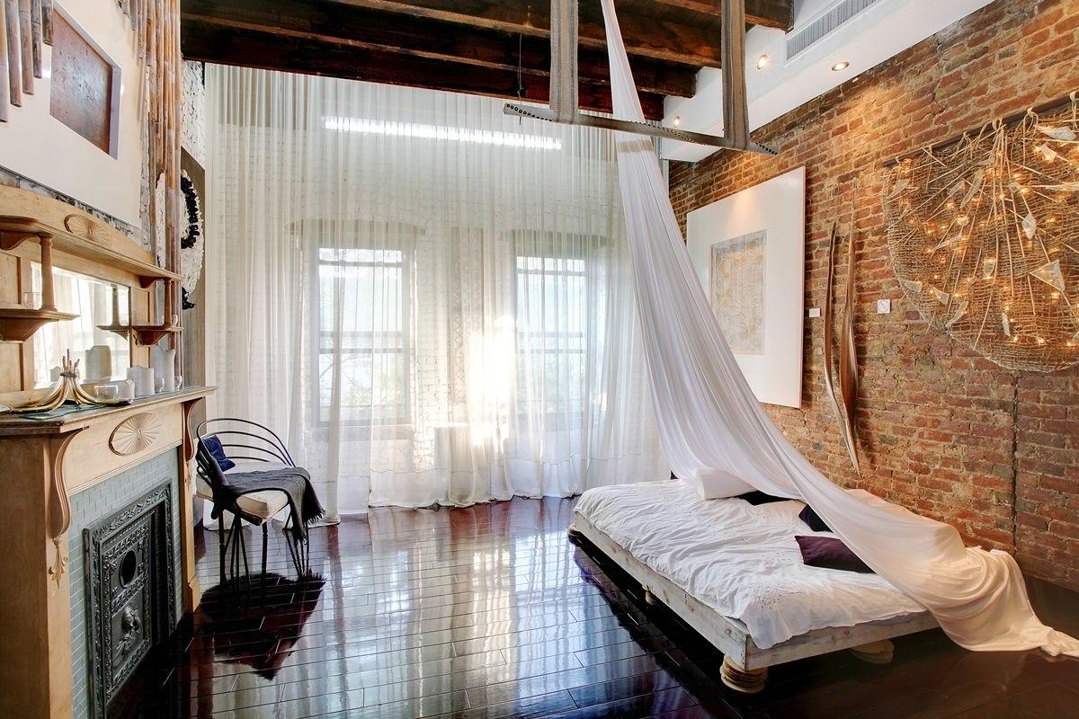 спальня в стиле лофт декор
