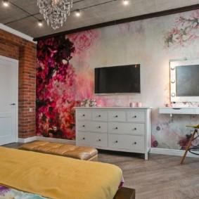 спальня в стиле лофт фото оформление