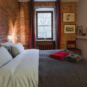 спальня в стиле лофт фото оформления