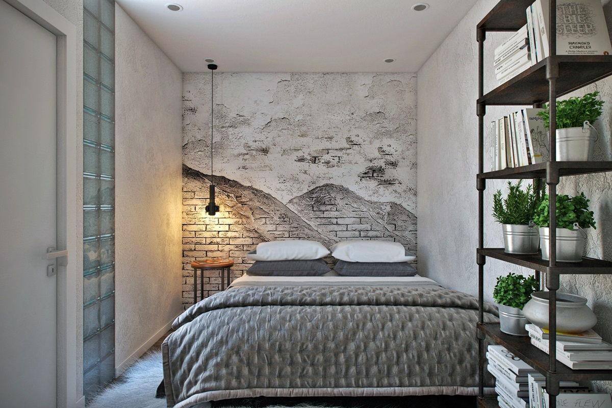 спальня в стиле лофт фото варианты