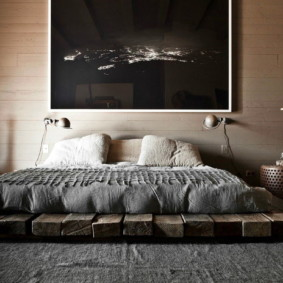 спальня в стиле лофт фото видов