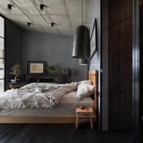 спальня в стиле лофт идеи дизайн