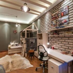 спальня в стиле лофт идеи оформление