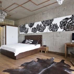 спальня в стиле лофт варианты идеи