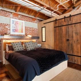 спальня в стиле лофт виды
