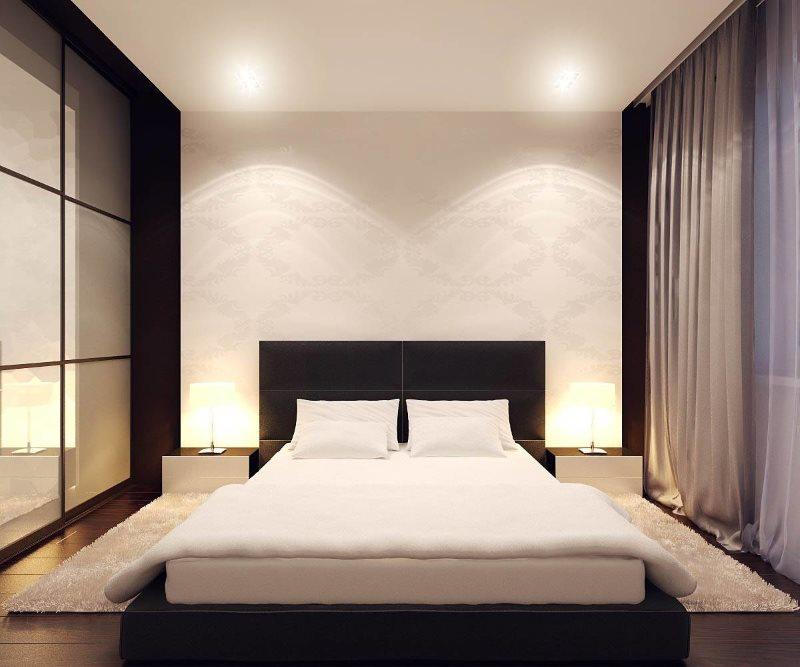Дизайн спальни в стиле минимализма размерами 3 на 3 метра