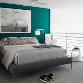 спальня в зеленых тонах дизайн идеи