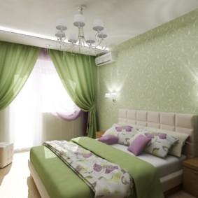 спальня в зеленых тонах фото декор