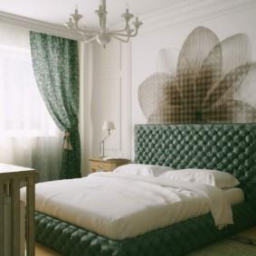 спальня в зеленых тонах фото идеи