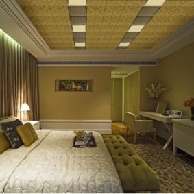 спальня в зеленых тонах фото интерьера