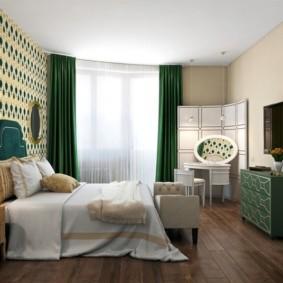 спальня в зеленых тонах фото видов