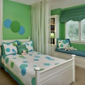 спальня в зеленых тонах идеи оформление