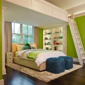 спальня в зеленых тонах идеи вариантов
