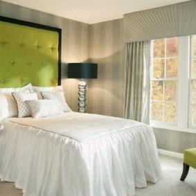 спальня в зеленых тонах варианты